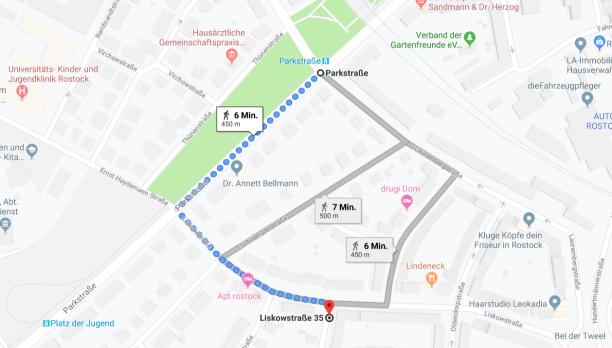 """Praxis """"Die Hypnose Coachess"""" - 6 Minuten Fußweg von der S-Bahn & Straßenbahn Haltestelle """"Parkstraße"""""""